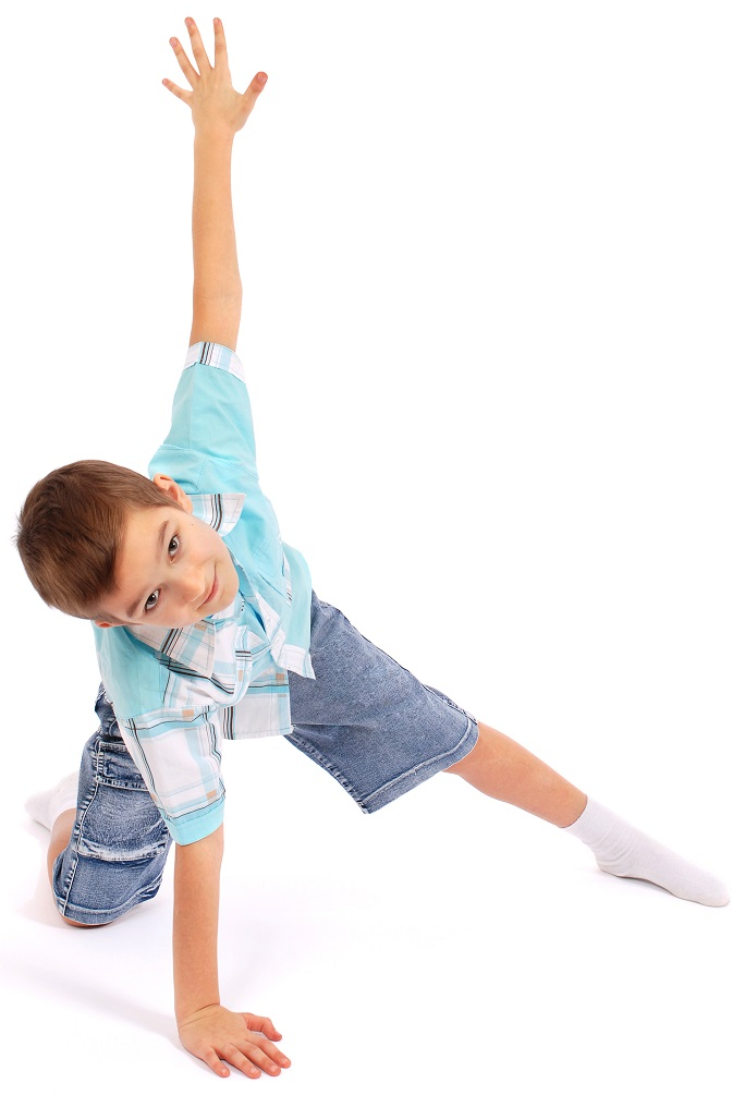 kids yoga posing