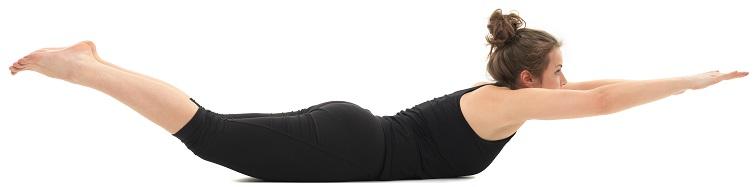 yoga lying pose