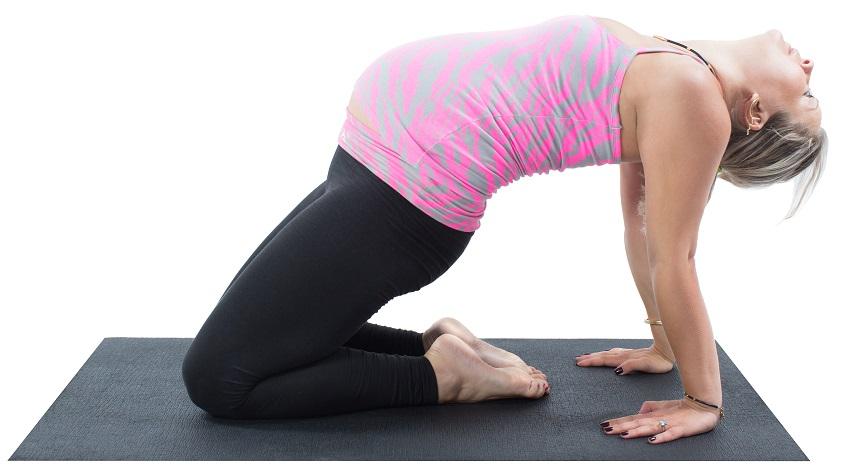 pre-natal yoga backbend